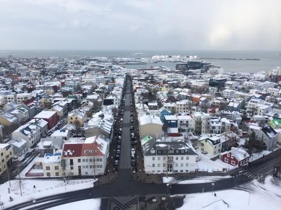 Reykjavik from Hallgrimskirkja | Iceland 2015